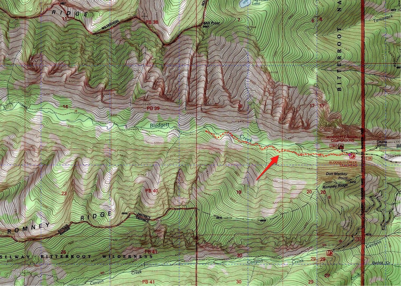 map of our hike