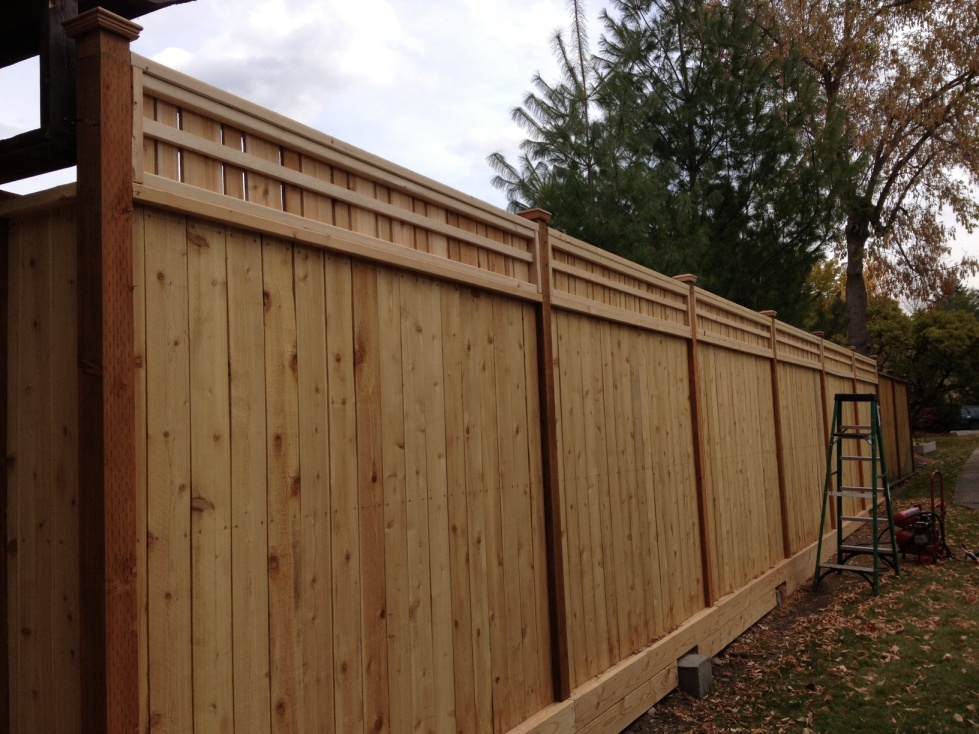 new fence from the outside
