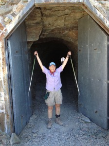 Carolyn at the tunnel!