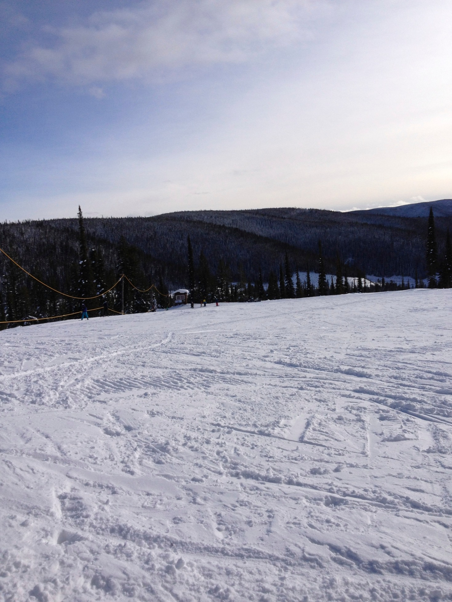 The rope tow at Lost Trail